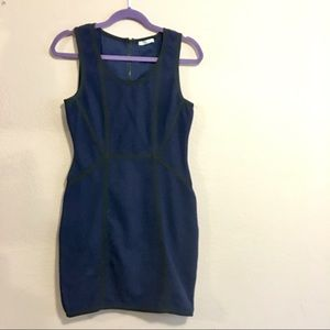 Navy blue bodycon dress by Rachel Roy